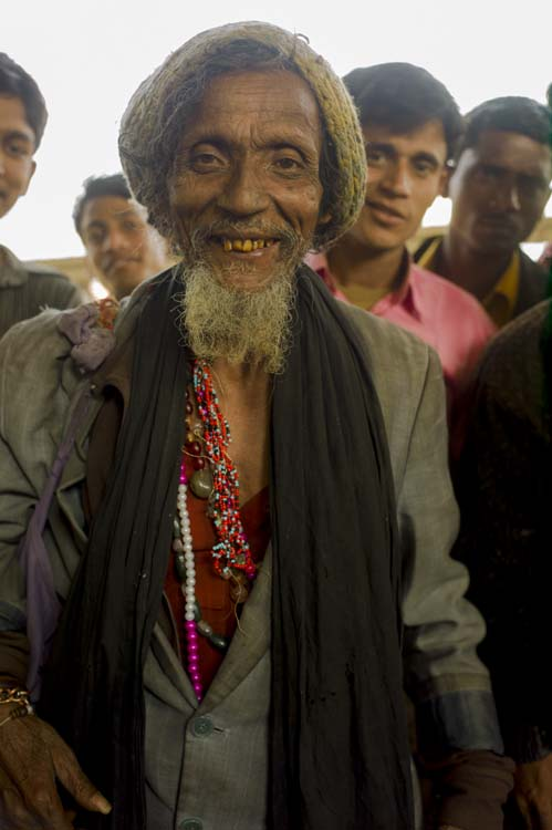 A mystic at Dhaka's Airport train station.