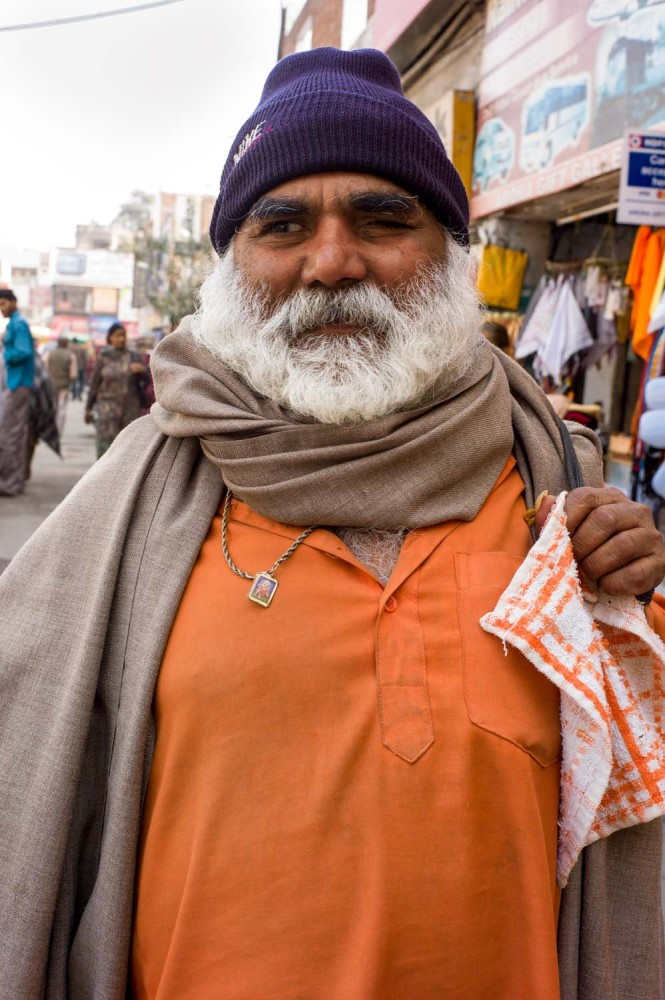 The orange color represents courage and wisdom in the Sikh tradition