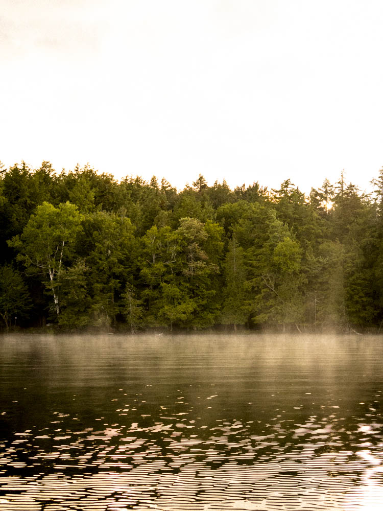 Evening mist on Lake Saranac