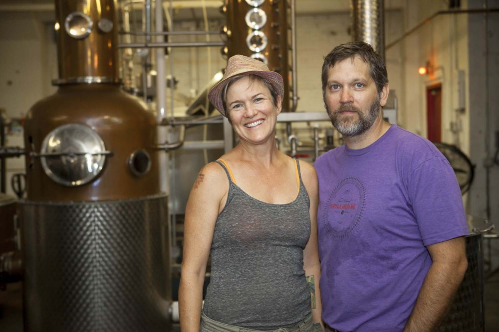Van Brunt Stillhouse founders Daric Schlesselman and Sarah Ludington