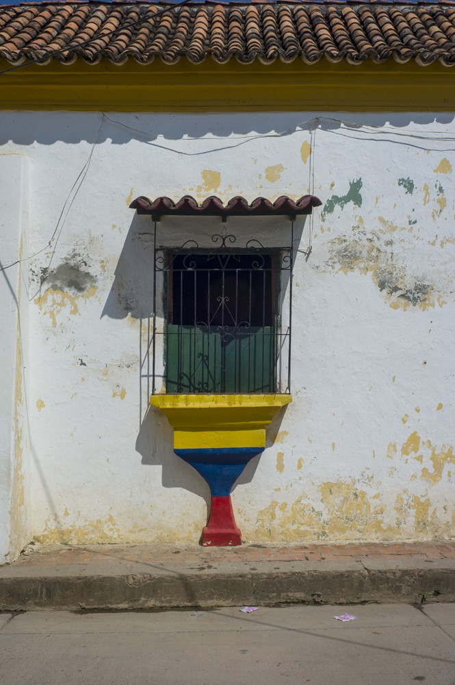 The Colombian flag is painted on houses and trees throughout Colombia and Mompox
